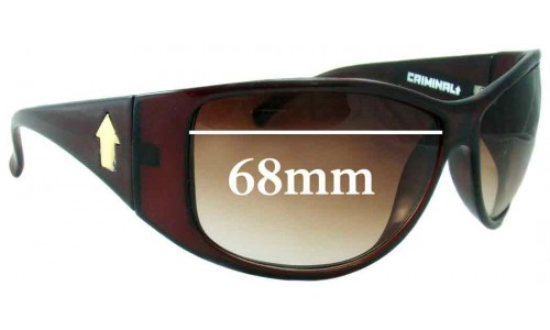 Criminal Giveme Replacement Sunglass Lenses - 68mm Wide