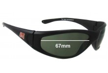 Dirty Dog Bull Replacement Sunglass Lenses - 67mm wide