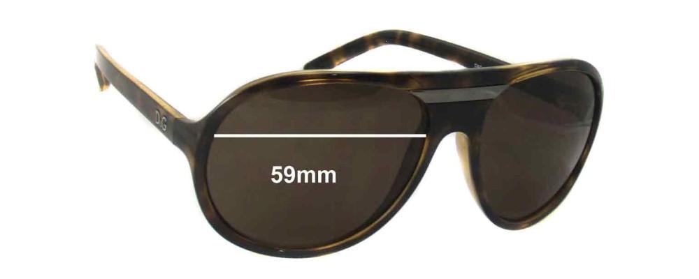 Dolce & Gabbana DG8073 Replacement Sunglass Lenses- 59mm Wide