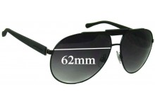 Sunglass Fix New Replacement Lenses for Dolce & Gabbana DG2119 - 62mm Wide