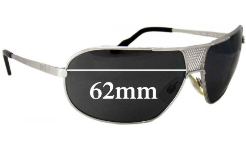 Dolce & Gabbana DG2136 Replacement Sunglass Lenses - 62mm wide