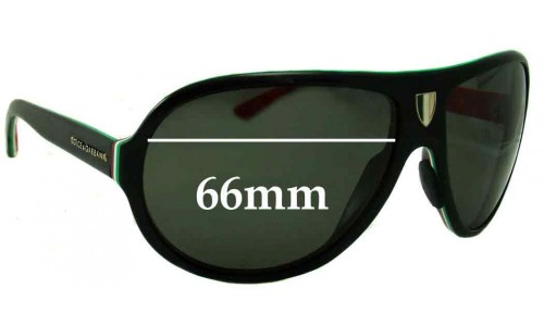 Sunglass Fix Replacement Lenses for Dolce & Gabbana DG4057 - 66mm wide