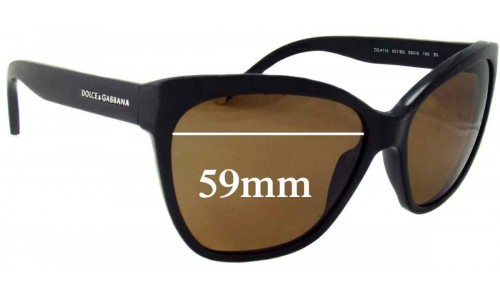 Dolce & Gabbana DG4114 Replacement Sunglass Lenses - 59mm wide