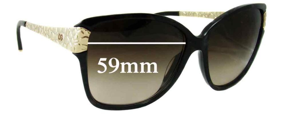 Dolce & Gabbana DG4131 Replacement Sunglass Lenses - 59mm wide