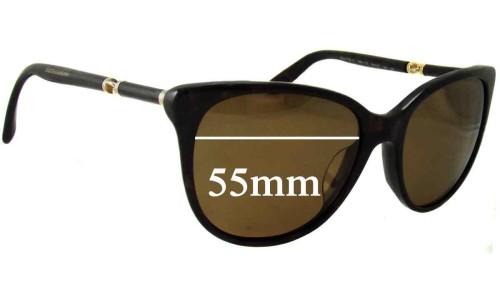 Dolce & Gabbana DG4156-A Replacement Sunglass Lenses - 55mm wide