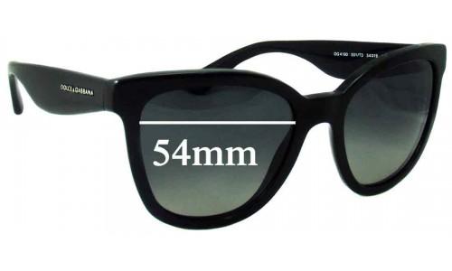 Dolce & Gabbana DG4190 New Sunglass Lenses - 54mm wide