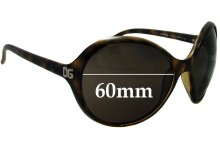 Dolce & Gabbana DG6006-B Replacement Sunglass Lenses- 60mm Wide
