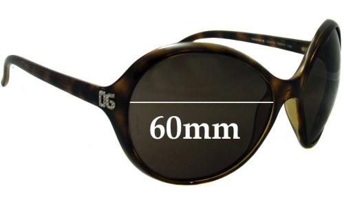 Dolce & Gabbana DG6006-B New Sunglass Lenses- 60mm Wide