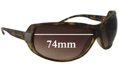 Dolce & Gabbana DG6019 Replacement Sunglass Lenses - 74mm Wide