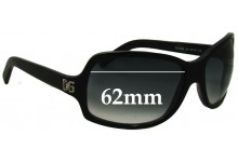 Dolce & Gabbana DG648S Replacement Sunglass Lenses- 62mm Wide