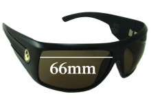 Sunglass Fix New Replacement Lenses for Dragon Shield - 66mm Wide
