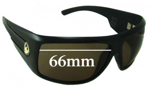 Dragon Shield Replacement Sunglass Lenses - 66mm wide