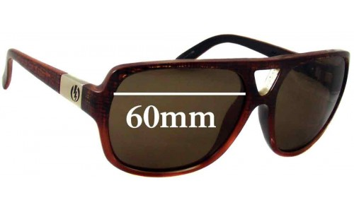 Electric Bickle Replacement Sunglass Lenses - 60mm Wide