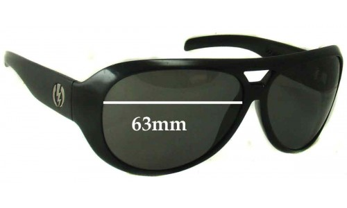 Sunglass Fix Replacement Lenses for Electric Gauge - 63MM WIDE