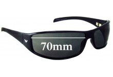 EMPORIO ARMANI EA9164/S Replacement Sunglass Lenses - 70mm