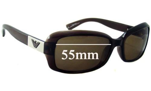 Emporio Armani EA9508/S Replacement Sunglass Lenses - 55mm Wide