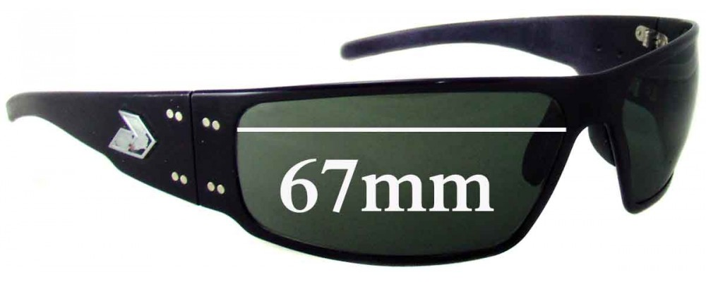 Gatorz Magnum Replacement Sunglass Lenses - 67mm wide