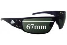 Gatorz Magnum Replacement Sunglass Lenses - 67mm wide