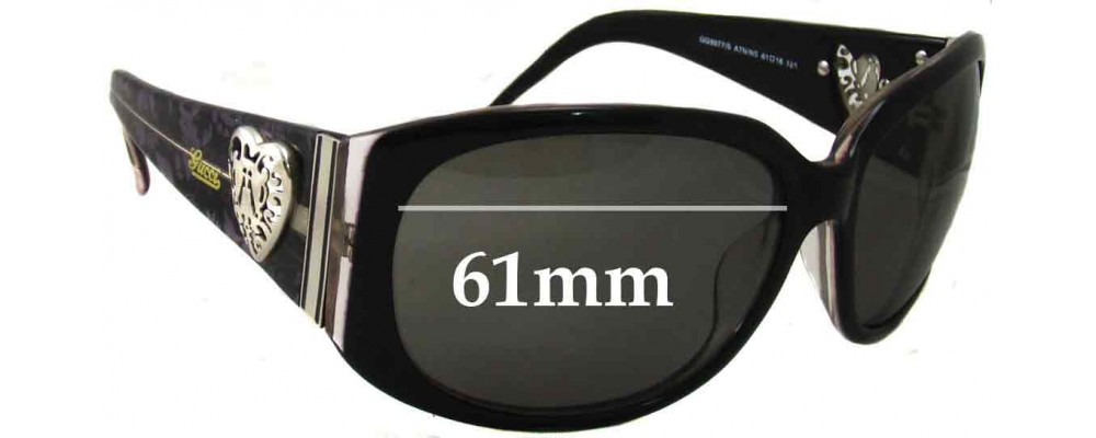 Gucci GG3077/S Replacement Sunglass Lenses -61mm Wide