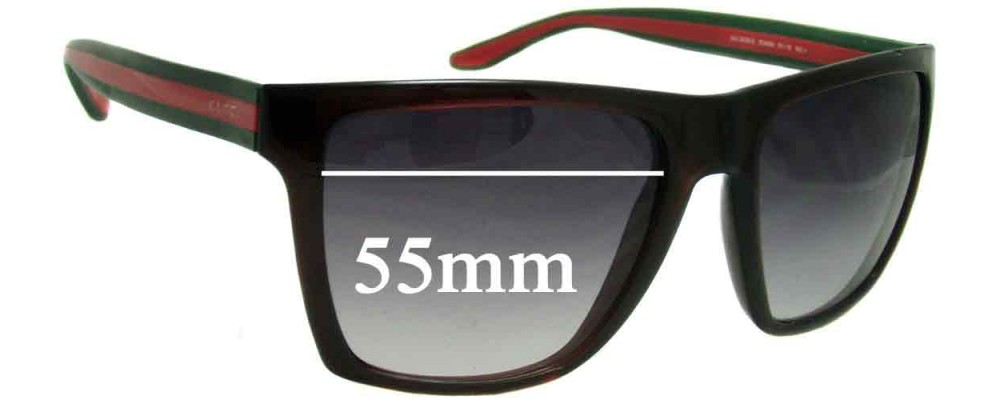 Gucci GG3535/S Replacement Sunglass Lenses - 55mm wide