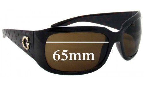 """Guess """"unknown model"""" Replacement Sunglass Lenses - 65mm wide"""