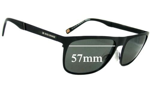 Hugo Boss BO Sun Rx-11 Replacement Sunglass Lenses - 57mm wide