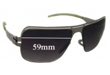 IC! Berlin Sly Replacement Sunglass Lenses - 59mm wide