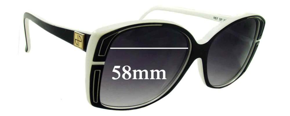 Jean Patou Paris Ref SP 39 Replacement Sunglass Lenses - 58mm Wide