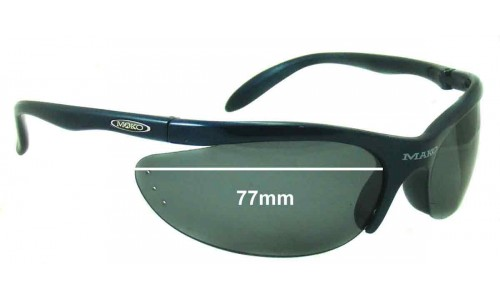 Mako Armour 9370 Replacement Sunglass Lenses - 77mm Wide