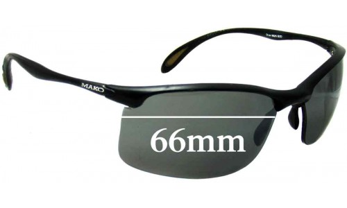Mako Diver 9525 Replacement Sunglass Lenses - 66mm Wide