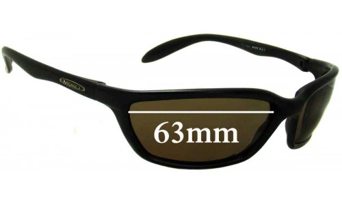 Mako Savage 9425 Replacement Sunglass Lenses - 63mm Wide