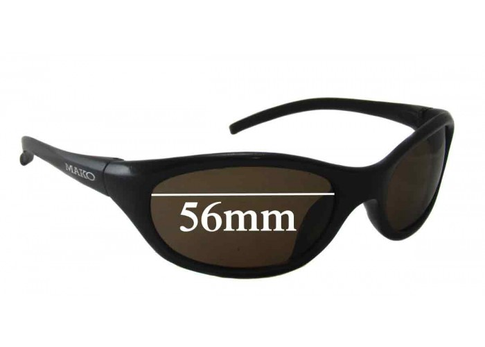 Sunglass Fix Replacement Sunglass Lenses Compatible with Mako Flame 9521 66mm W