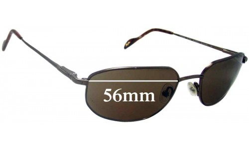 Maui Jim MJ553 Koa Replacement Sunglass Lenses - 56mm Wide