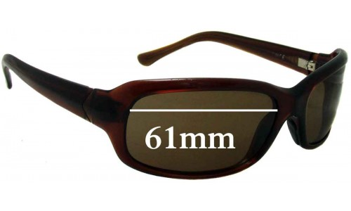 Sunglass Fix Replacement Lenses for Maui Jim Lagoon MJ189 - 61mm Wide