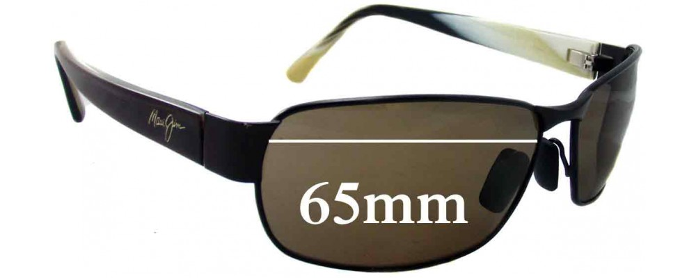5061782635f Maui Jim MJ249 Black Coral Replacement Sunglass Lenses - 65mm Wide