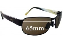 Maui Jim MJ249 Black Coral Replacement Sunglass Lenses - 65mm Wide