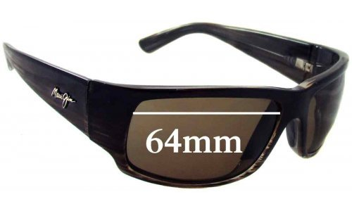 Sunglass Fix Replacement Lenses for Maui Jim MJ266 World Cup - 64mm Wide