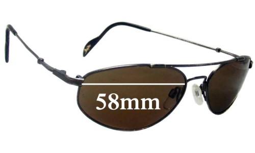 Maui Jim Molokai MJ308 Replacement Sunglass Lenses - 58mm Wide