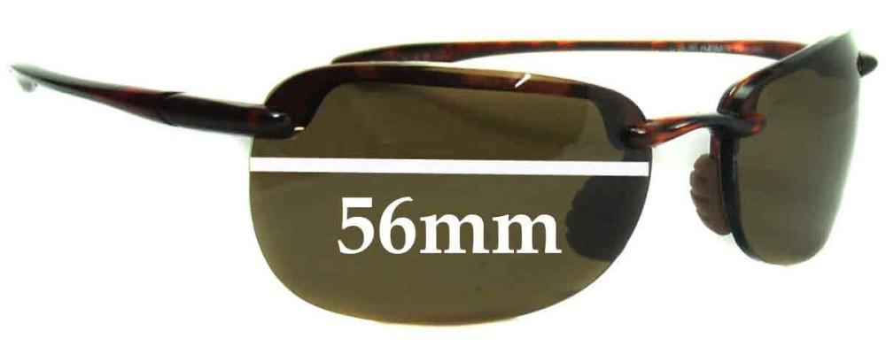 Maui Jim MJ408 SANDYBEACH Replacement Sunglass Lenses - 56mm Wide