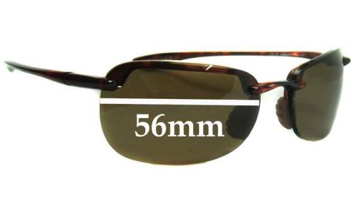 Sunglass Fix Replacement Lenses for Maui Jim MJ408 SANDYBEACH - 56mm Wide