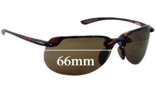 Maui Jim MJ414 Hapuna Replacement Sunglass Lenses - 66mm Wide