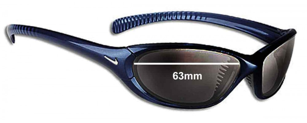 d18c4d8fe443 Sunglass Fix Replacement Lenses for Nike Interchange 80 EVO139 - 63MM wide