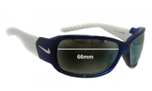 Nike Ignite EVO 575 EVO 576 EVO 578 Replacement Sunglass Lenses- 66mm Wide