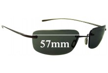 Nike Linear Square Replacement Sunglass Lenses - 57mm Wide