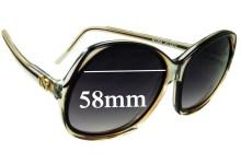 Nina Ricci Paris 85-D14 Replacement Sunglass Lenses - 58mm Wide