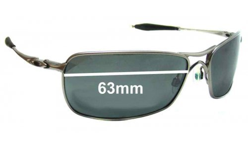Oakley Crosshair 2.0 Replacement Sunglass Lenses - 63mm wide