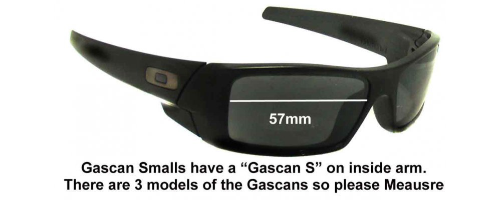 25633c4bfc Oakley Gascan S Replacement Sunglass Lenses 57mm wide