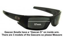 Oakley Gascan S Replacement Sunglass Lenses 57mm wide