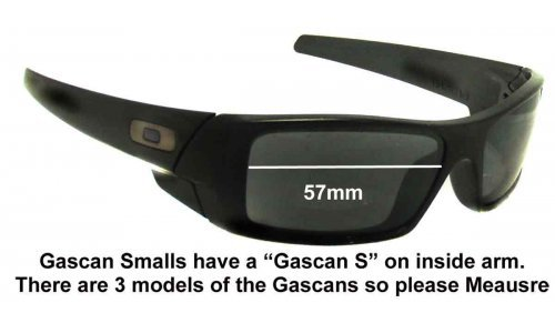 Oakley Gascan S Replacement Sunglass Lenses 57mm wide
