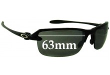 Oakley Ice Pick Sunglass Replacement Lenses - 63mm Wide **Please measure as there are 2 versions. This one has a screw for the lens on the nose area**